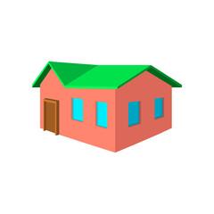 Small cottage cartoon icon