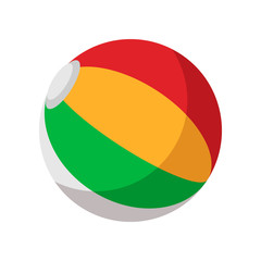 Colorful ball cartoon icon