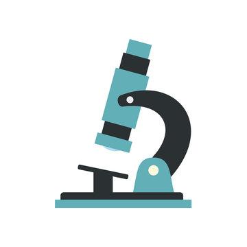 Microscope modern flat icon