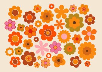 Fleurs des années soixante-dix