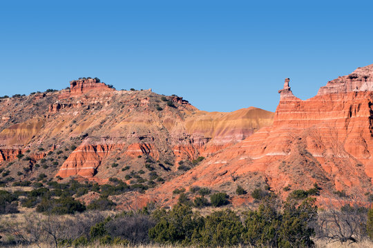 Capitol Peak in Palo Duro Canyon State Park, Texas, USA