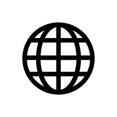 Global solution line icon.