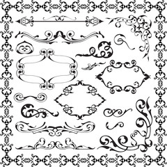 Baroque graphic art set