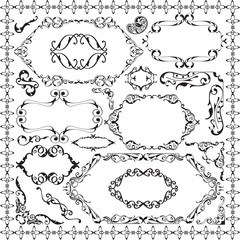 Retro ornate design set