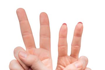 Finger gesture freedom