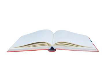 Open book isolated on white background. This picture has clipping path for easy to use.