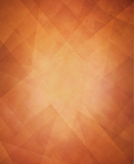 abstract triangle background design, autumn or thanksgiving background, layers of faint transparent triangles texture on rust orange background, copper color