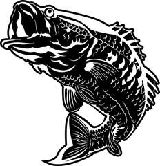 Fish jumping vector