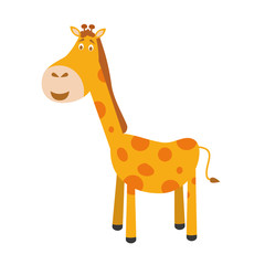 Cute cartoon giraffe vector illustration