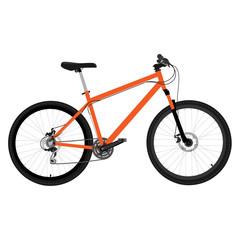 Orange bicycle vector