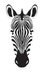 Zebra head isolated on white background. Zebra logo. Vector illustration