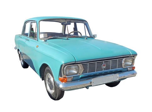 Small family car Moskvitch 412 of 1970s