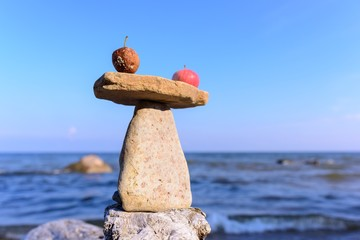 Zen balance of apples