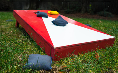Cornhole Toss Game Board Close-up