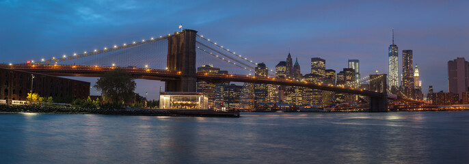 Printed kitchen splashbacks Brooklyn Bridge Panorama of Brooklyn Bridge, NYC