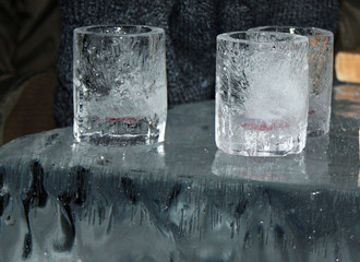 glass made of ice