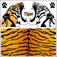 tiger. animal print. tiger silhouette