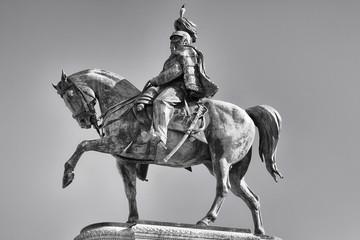 Vittoriano in Rome Victor Emmanuel II Statue - black and white