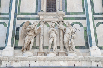 The Baptism of Jesus - baptistry facade in Florence