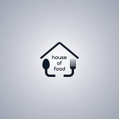homemade house food logo template