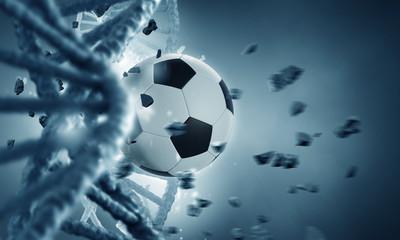 DNA molecule and ball