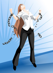 Girl freed from the chains