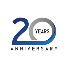 anniversary CIRCCLE MODERN BLUE GRAY