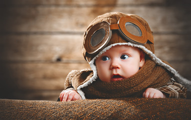cute pilot aviator baby newborn