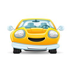 Yellow car.