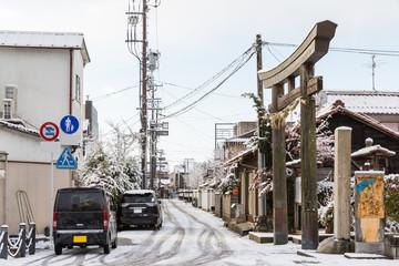Inuyama city in winter