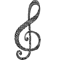 music note doodle drawing