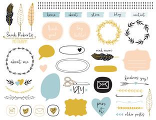 Blog Kit Design Elements Collection