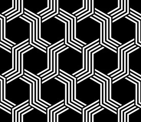 hexagon pattern. seamless pattern design. editable vector file.