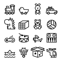 Outline Toy icon set