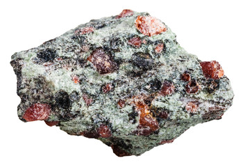 Eclogite stone with garnet and omphacite rock