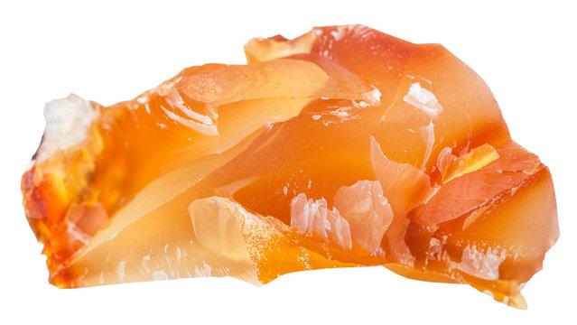 carnelian (cornelian, sard) crystalline gemstone