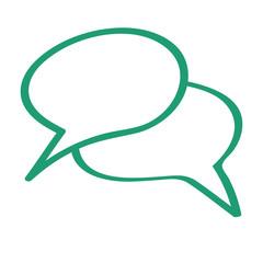 Handgezeichnetes Sprechblasen-Icon in grün