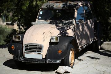 Old-fashioned retro car