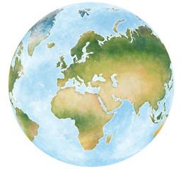 illustrazione mappa mondo e dei continenti del pianeta terra