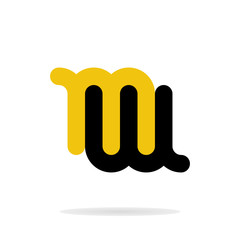 Abstract letters M and W logo template. Business logo template. Vector
