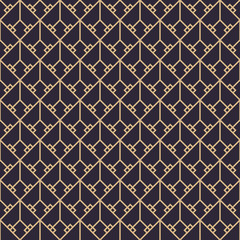 Geometric gold luxury pattern