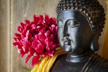Fototapete - Statue Bouddha