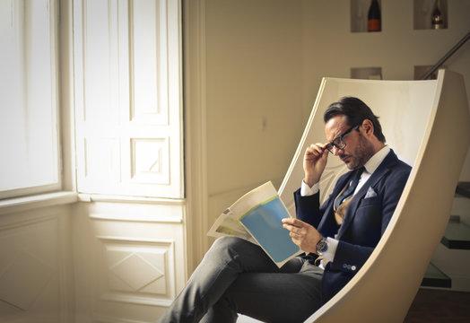 Elegant man sitting