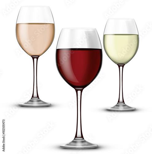 compo verre vin rouge ros et blanc fichier vectoriel libre de droits sur la banque d 39 images. Black Bedroom Furniture Sets. Home Design Ideas