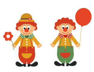 clown with flower and ball