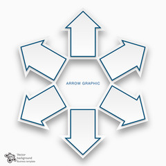 Chart Design Template_Arrows # Vector Graphic