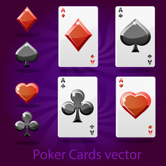 poker playing card vector