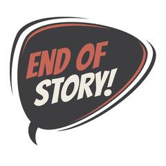 end of story retro speech balloon