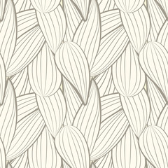 The geometric pattern of abstract leaves. Seamless background ve