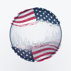 U.S.A flag shaped like a earth.